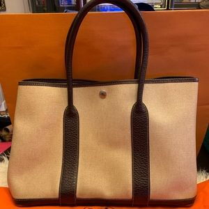 Used Authentic Hermes Garden Party Bag